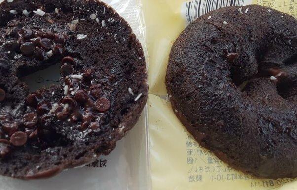 ローソンのチョコケーキドーナツサンド6