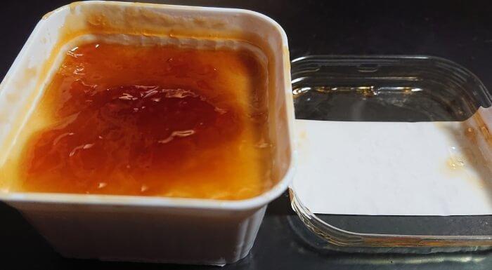 ファミマのねっとりイタリアンプリンの表面2