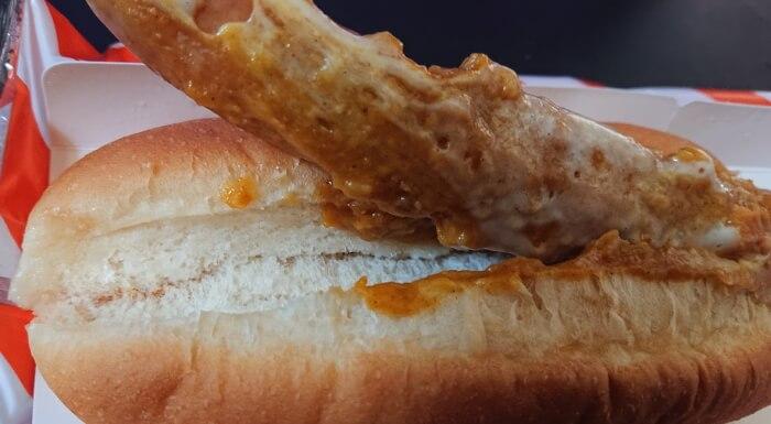 ローソンのグーードッグ バターチキンカレーの本体2
