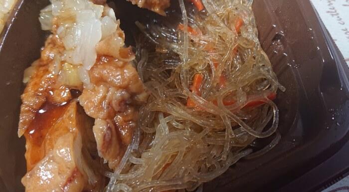 セブンの卵炒飯&香味ダレの油淋鶏の春雨
