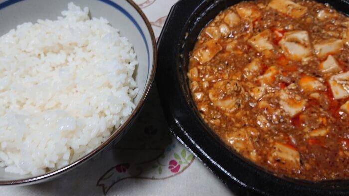 ファミマの四川風麻婆豆腐と白ご飯